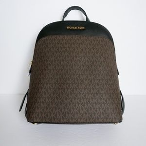 Michael Kors Emmy Dome L Backpack Brown Black
